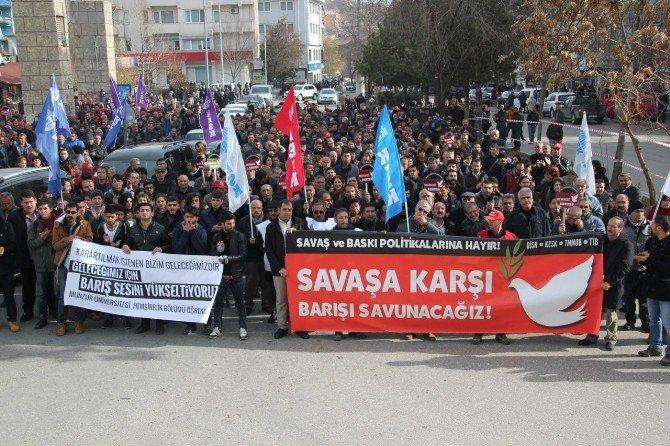 Tunceli'de Protesto Yürüyüşü