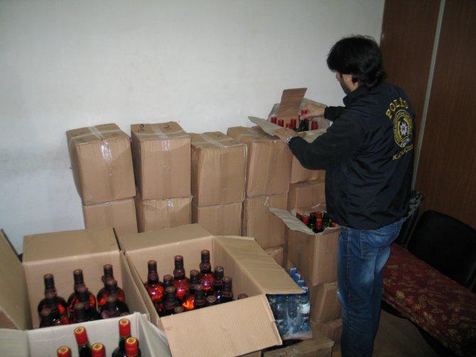 Yılbaşı öncesi sahte içki ve kaçak sigara operasyonu