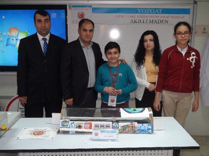 Yozgat'ta Ortaokul Öğrencisi Tarafından Madenciler İçin Hazırlanan Yaşam Odası Projesi Ödül Aldı