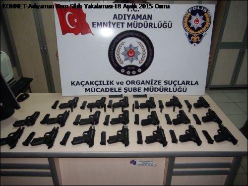 Adıyaman'da silah ve uyuşturucu operasyonu