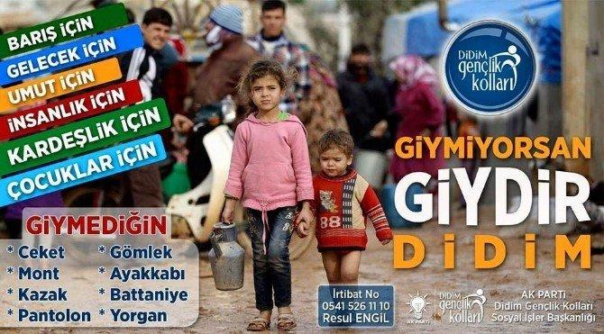 """AK Parti'li Gençlerden """"Giymiyorsan Giydir Didim"""" Kampanyası"""