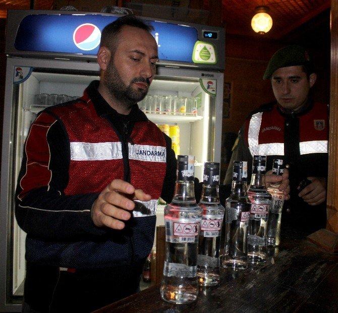Jandarmadan Yeni Yıl Öncesi Sahte Alkol Denetimi