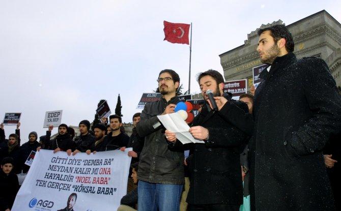 Anadolu Gençlik Derneği'nden 'yılbaşına hayır' eylemi