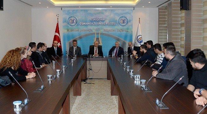 Anadolu Üniversitesi'nden ESOGÜ'ye Anlamlı Taziye Ziyareti