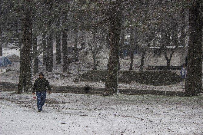 Edremit Ve Havran'da Kar Yağışı Başladı