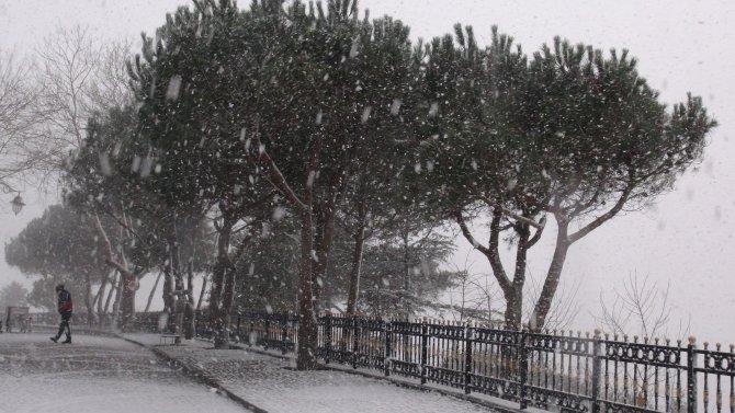 Çamlıca'dan kar manzaraları