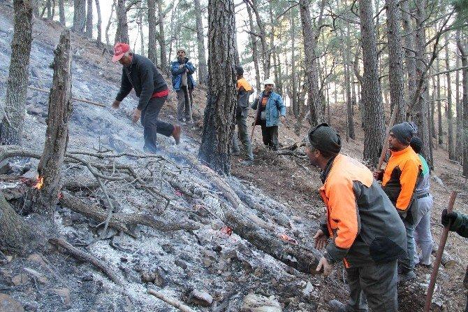 Fethiye'de Kış Ortasında Orman Yangını