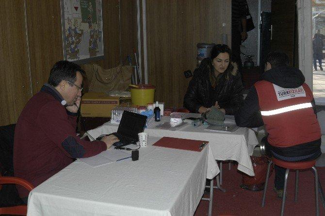 Malkara'da Vatandaşlar Kan Bağışı Yaptı