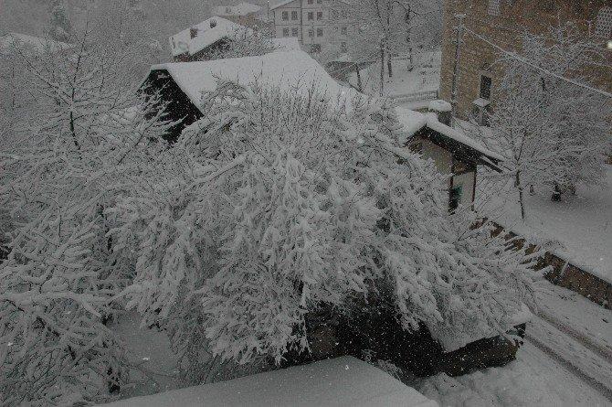Kastamonu'da Lapa Lapa Kar Yağdı