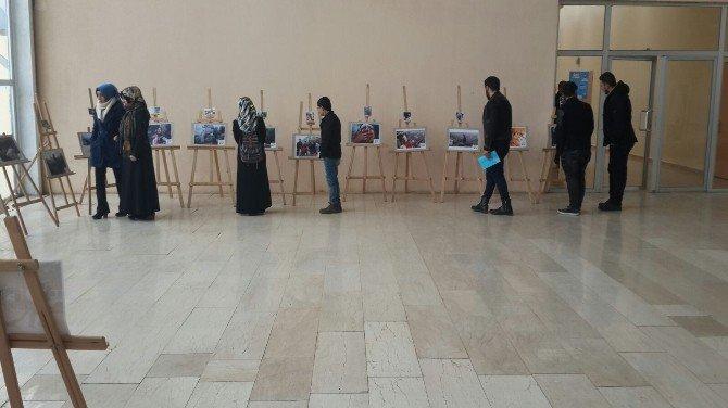 Muş'ta 'Yeryüzü Mazlumları' Resim Sergisi