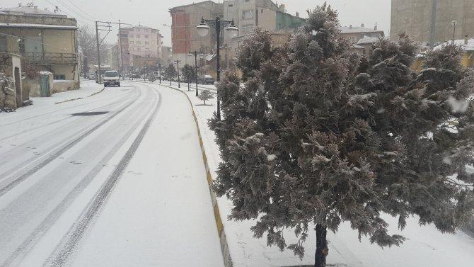 Niğde'de kar yağışı başladı