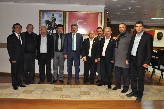 Nazilli Oda Başkanları Alıcık'ı Makamında Ziyaret Etti
