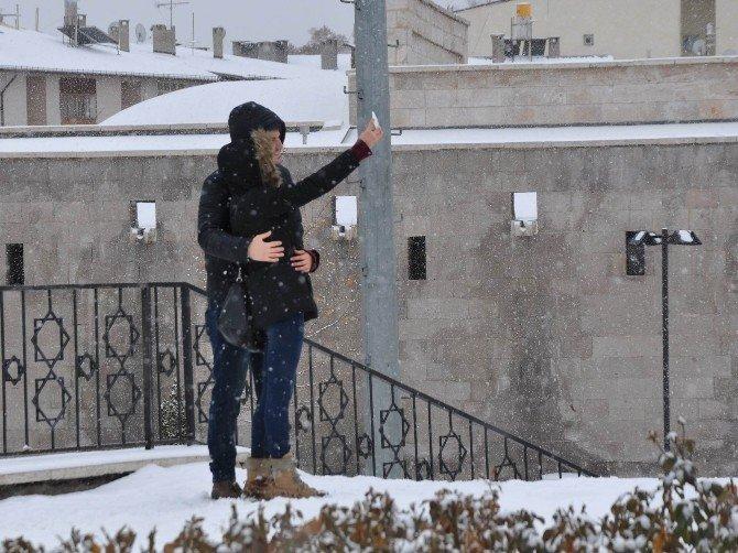 Sivas'ta Karın Keyfini Çocuklar Çıkardı
