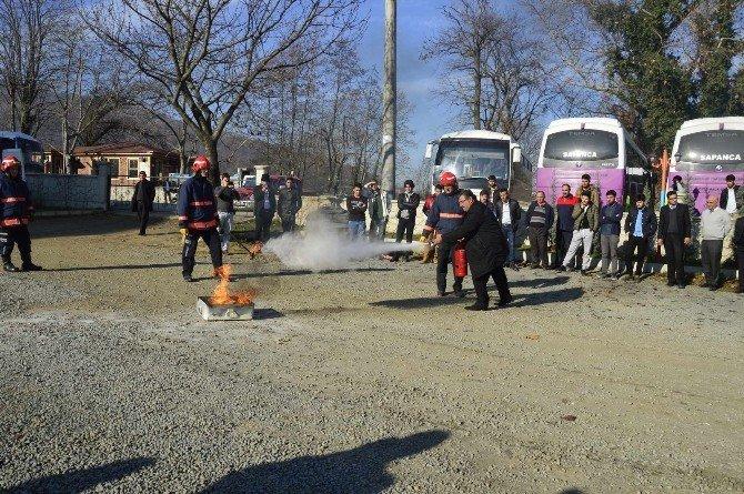 Sapanca MYO'da Yangın Tatbikatı