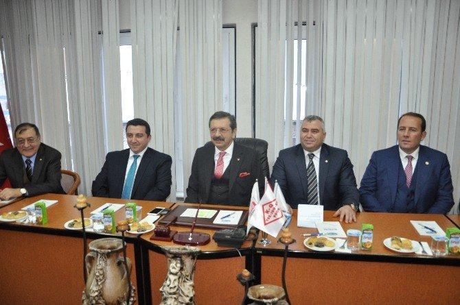 TOBB Başkanı Hisarcıkoğlu Bozüyük'te