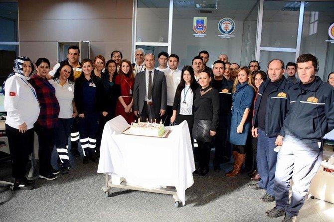 112 Çağrı Merkezi'nde İlk Yeni Yıl Pastası