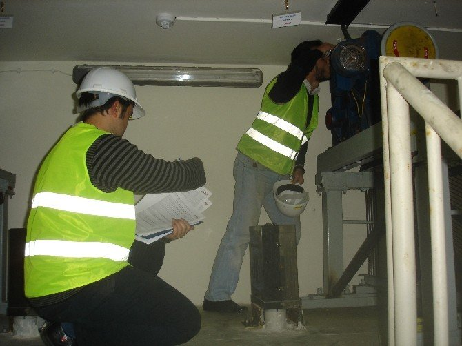 Atakum'da Asansörlere İnceleme
