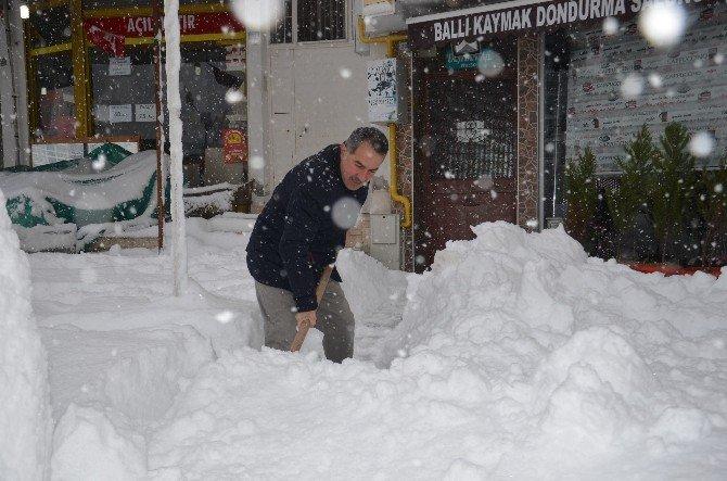 Bafra Kar Altında Kaldı