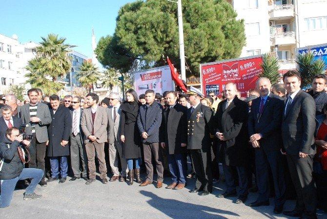 Didim'de Dev Türk Bayrağı Göndere Çekildi