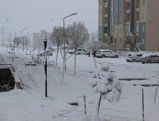 Diyarbakır'a Mevsimin İlk Karı Yağdı