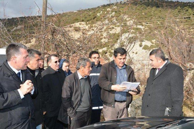 DSİ Bölge Müdürü Özgür, Dereköyde Etüt Yaptı