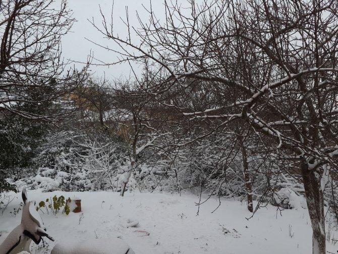 Beykoz'da yer yer 30 santimetreyi bulan kar yağışı etkisini sürdürüyor