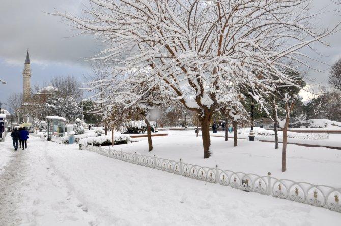 Tarihi yarımadadan kar manzaraları