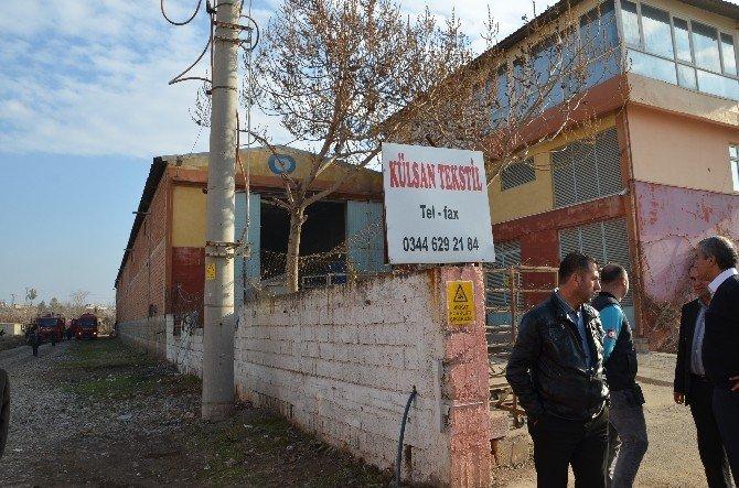 Türkoğlu'da Tekstil Fabrikasında Yangın