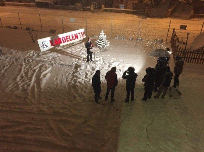 Yoğun Kar Yağışı Altında Anahaber