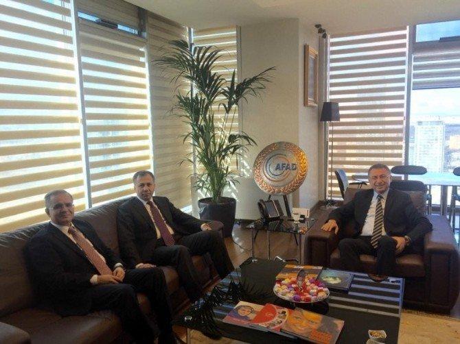 Vali Süleyman Tapsız, Ankara'da Temaslarda Bulundu