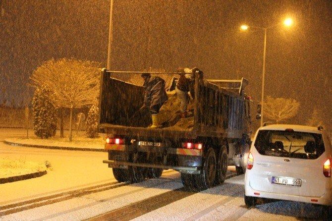 Genel Sekreter Büyükakın, Karla Mücadele Ekipleriyle Buluştu