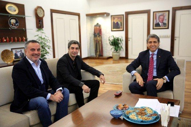 Kurtlar Vadisi Dizisinin Başrol Oyuncusu Şaşmaz'dan, Başkan Mustafa Demir'e Ziyaret