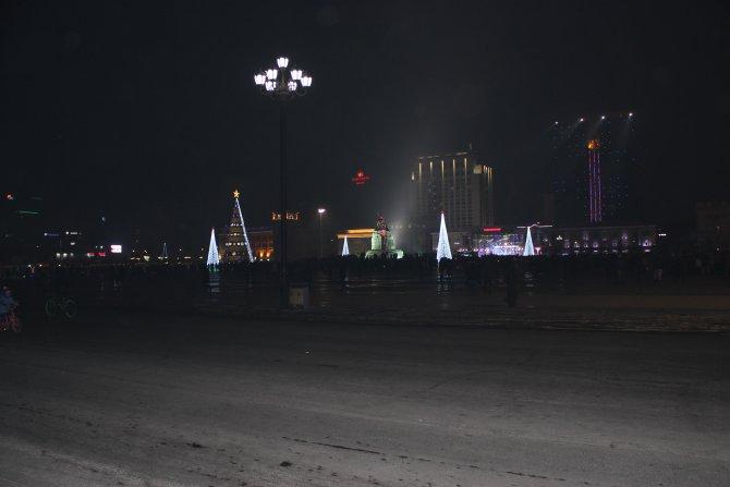 Moğolistan 2016 yılına havai fişek gösterileri eşliğinde girdi