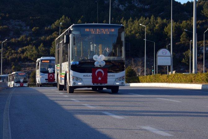 Muğla'da 33 toplu taşıma aracı daha faaliyete başladı
