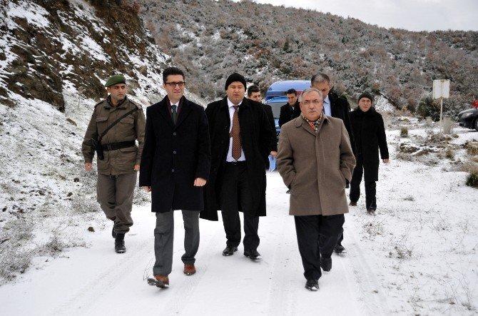 Biecik Valisi Nayir'dan Söğüt OSB Arazisinde İnceleme