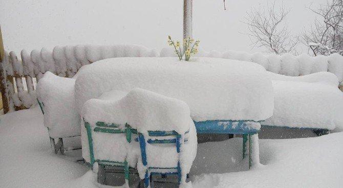Kastamonu'da Kar Kalınlığı, 1.5 Metreyi Geçti