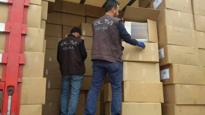 Adana'da 250 bin paket kaçak sigara ele geçirildi