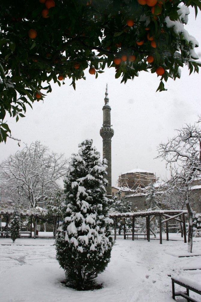 Trabzon, yılın ilk gününe karla uyandı