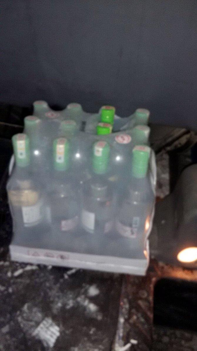 Jandarmadan kaçak içki operasyonu