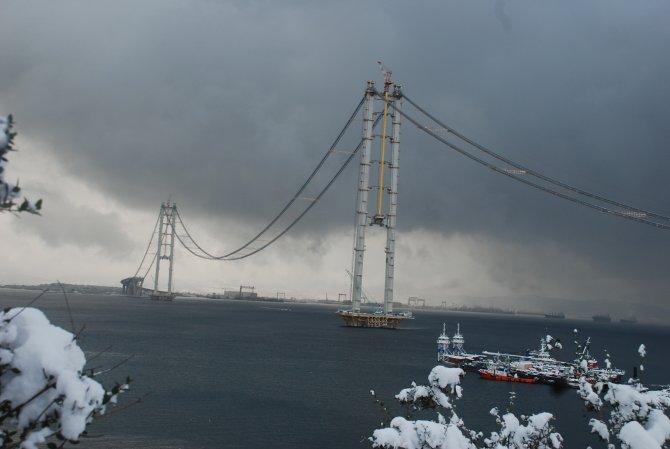 Körfez Geçiş Köprüsü'nde deniz üzerindeki ilk tabliye 15 Ocak'ta yerleştirilecek