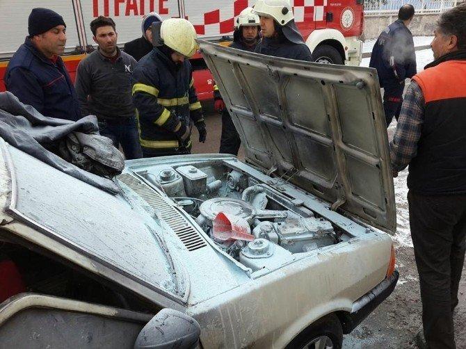Kütahya'da Araç Yangını