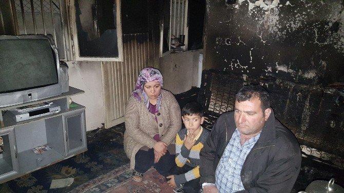 Kadirli'de Evi Yanan Aile Yılbaşına Böyle Girdi