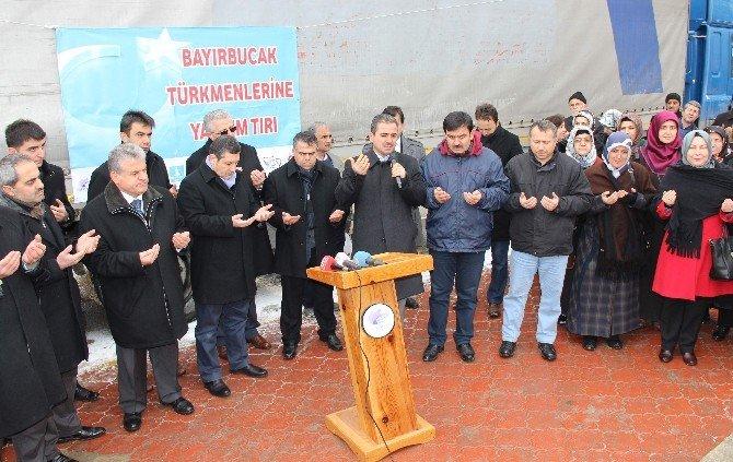 Bayırbucak Türkmenlerine Yılın İlk Yardım Tır'ları Safranbolu'dan Gönderildi