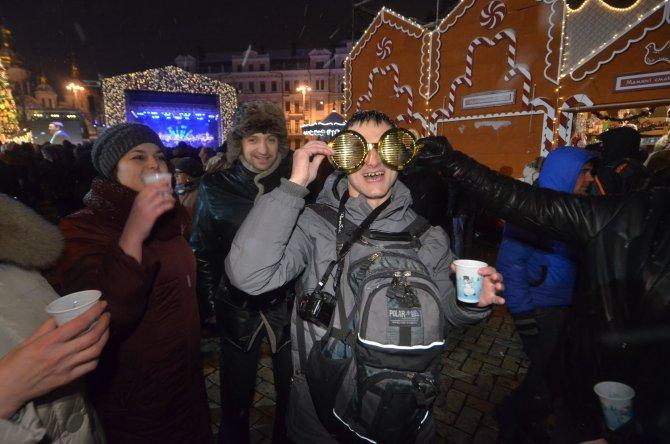 Ukraynalılar yeni yıla barış temennileriyle girdi