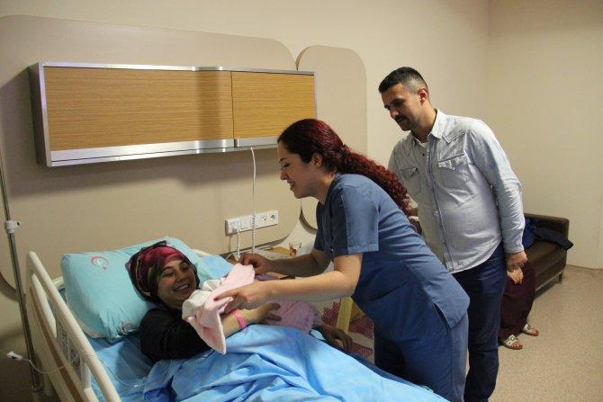 Ereğli'de 2016 yılının ilk bebeği Zeynep Miray