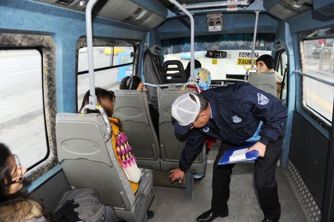Ankara zabıtasından minibüslere 'kalorifer' denetimi