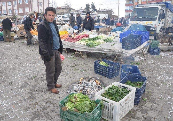 Ilgaz'da Soğuk Hava Pazarı Etkiledi