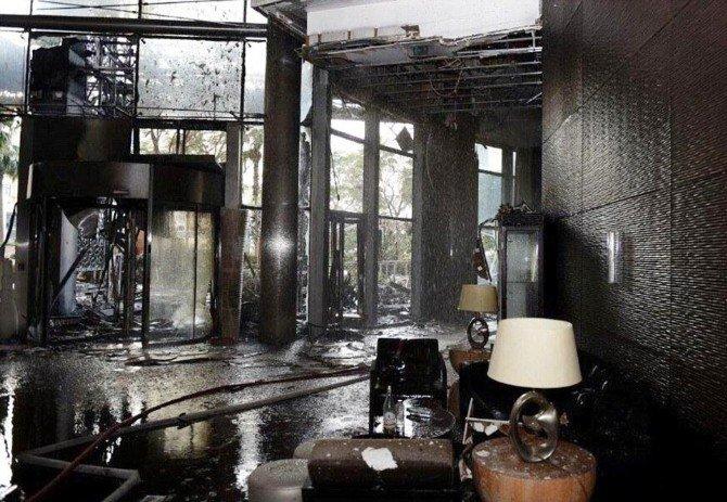 Dubai'de Yanan 63 Katlı Otelin İçinden İlk Fotoğraf