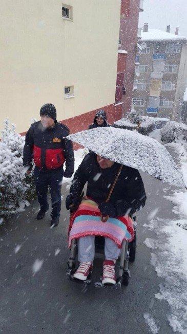 Engelli Hastanın İmdadına Alaplı Belediye Başkanı Yetişti