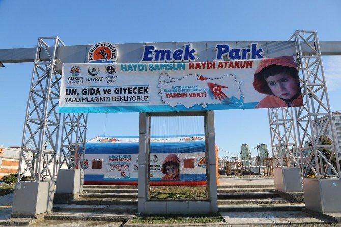 Atakum'dan Türkmenlere Yardım Kampanyası